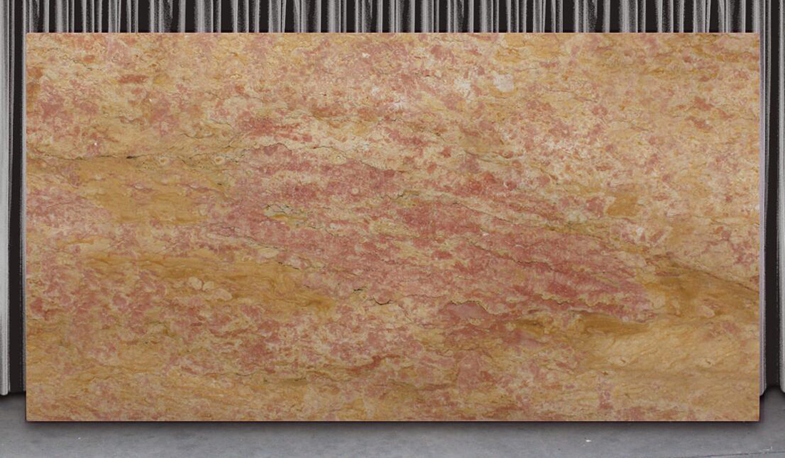 Italian Giallo Reale Pink Marble Slabs for Walls