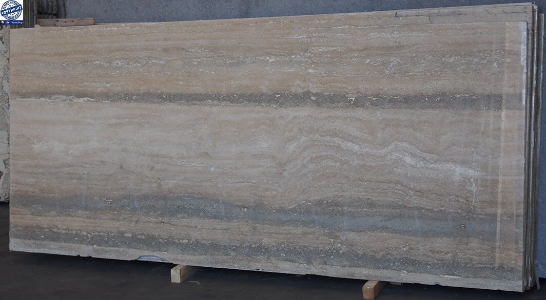 Italian Ocean Silver Travertine Slabs