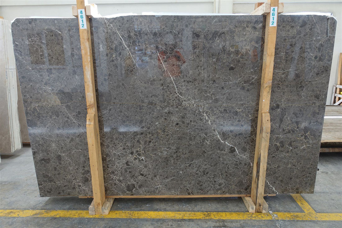 Italian Smokey Brown Savannah Grey Marble Polished Slabs