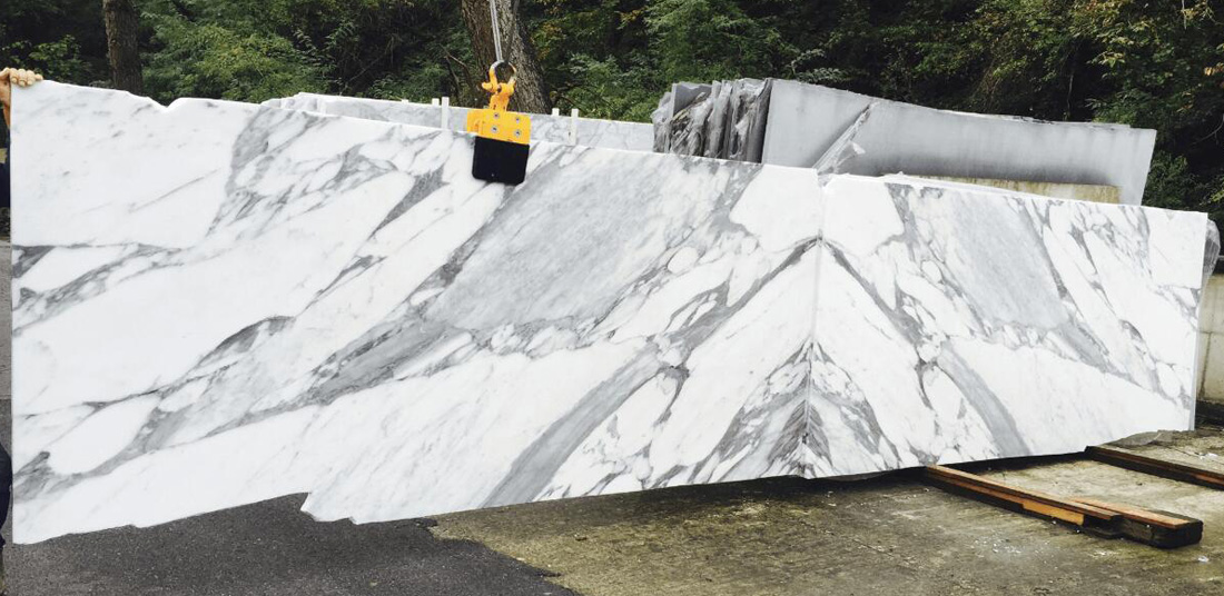 Italian Statuario Super Extra Honed White Marble Slabs