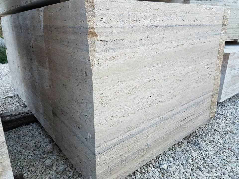 Italian Travertine Blocks Travertino Romano Silver Blocks
