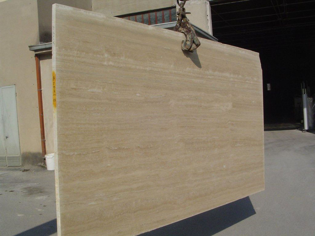 Italian Travertino Classico Yellow Travertine Slabs