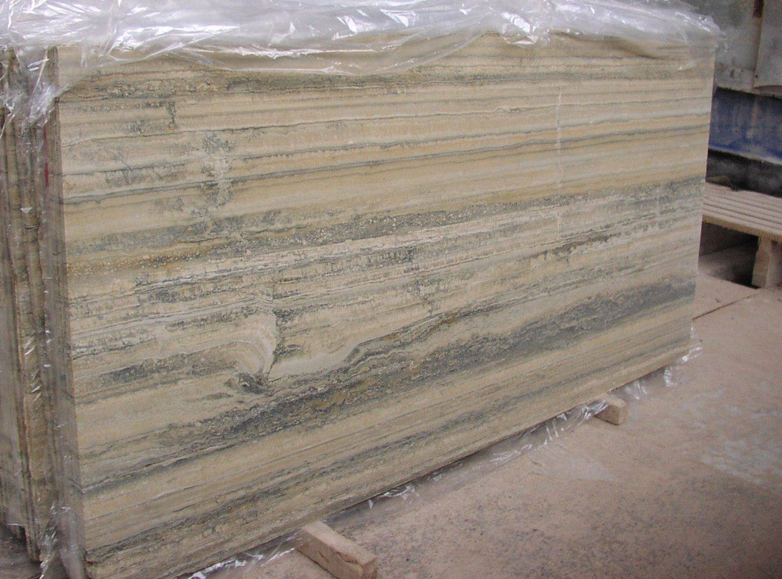 Italian Travertino Ocean Silver 2CM Honed Slabs