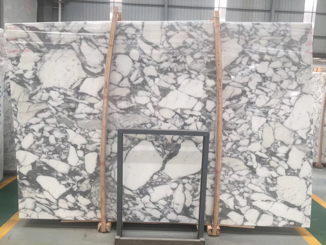 Italian White Arabescato Marble Slab with High Quality