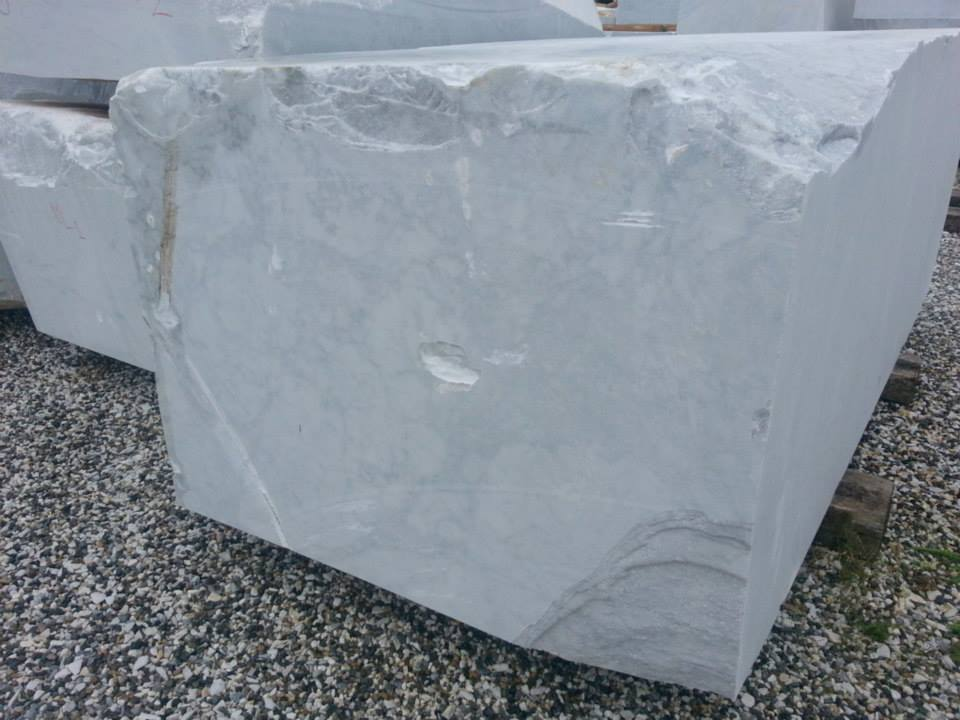 Italian White Carrara CD White Marble Blocks