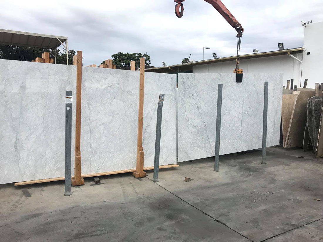 Italian White Carrara Marble Polished White Marble Slabs