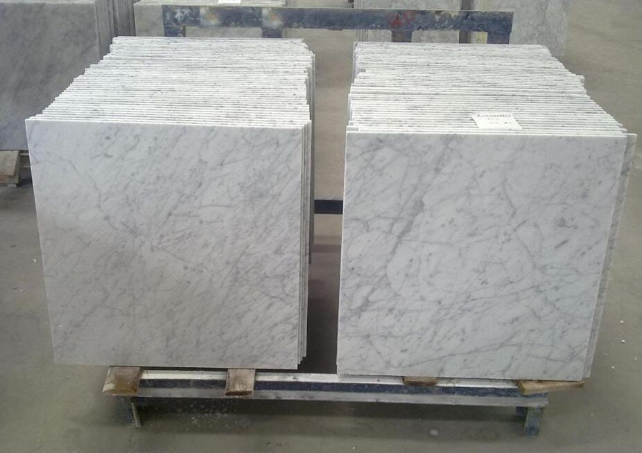 Italian White Marble Carrara White Marble Flooring Tiles