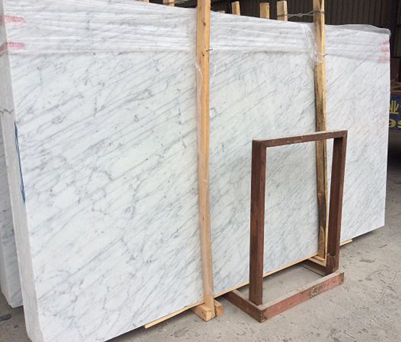 Italian White Marble Carrara White Polished Marble Stone Slabs