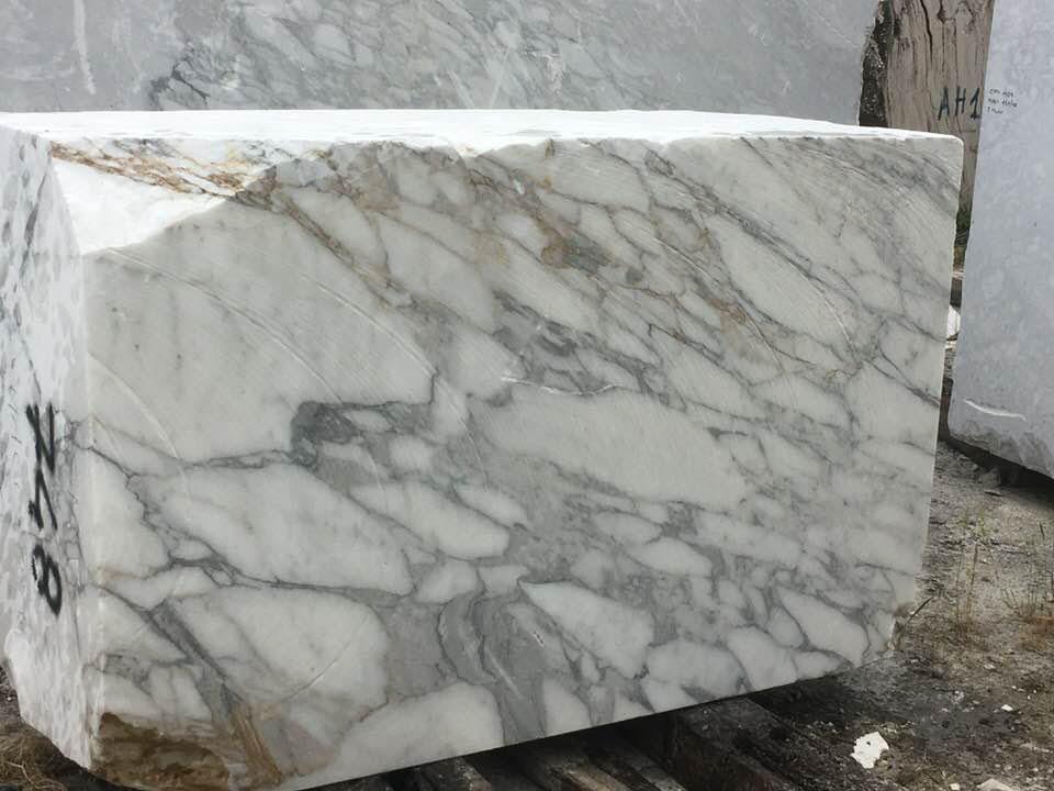 Italy Arabescato Blocks White Marble Blocks