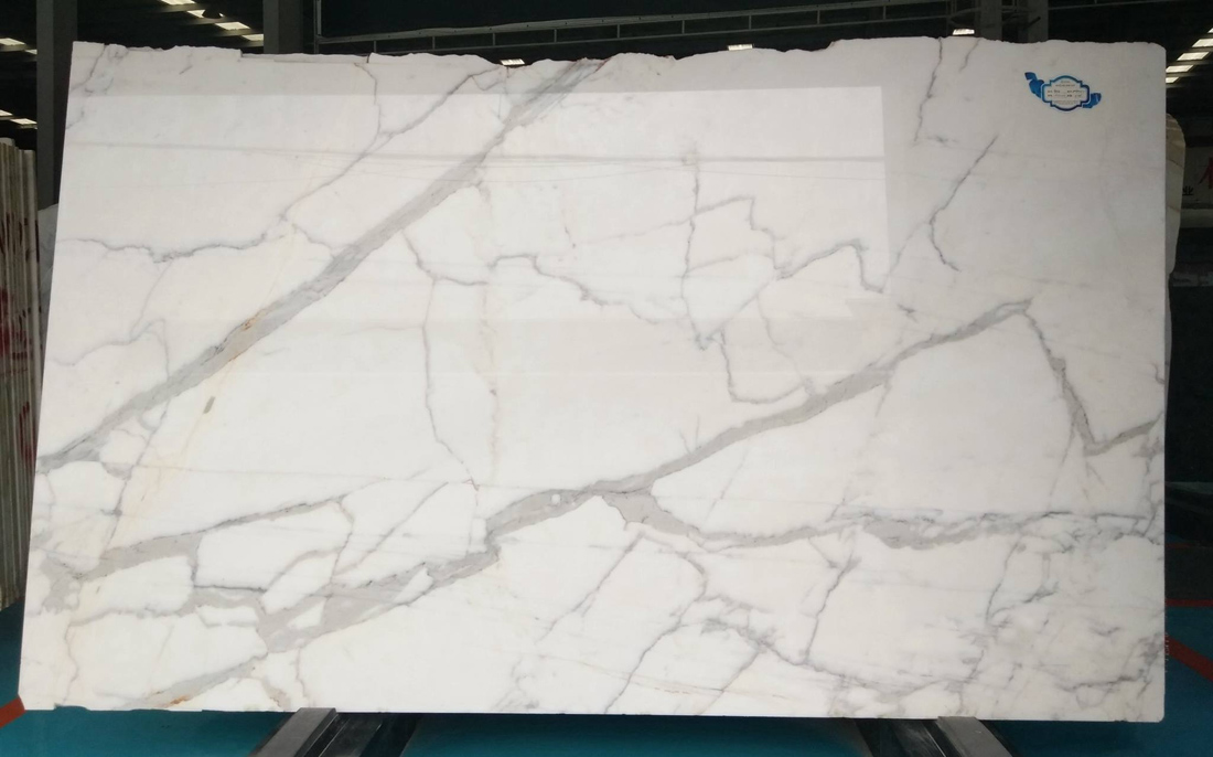 Italy Calacatta White Marble Slab Polished White Stone Slabs