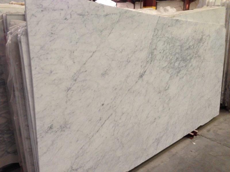 Italy Carrara White Marble Slabs for Bathroom Vanity Tops