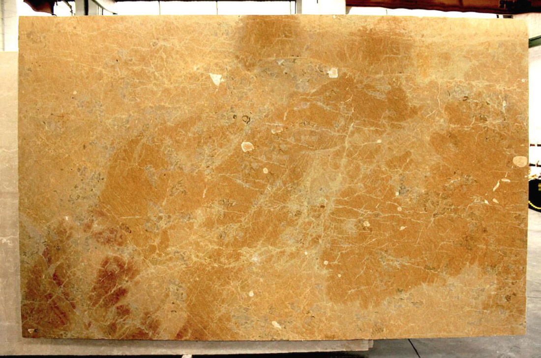 Italy Giallo Reale Yellow Brushed Marble Slabs