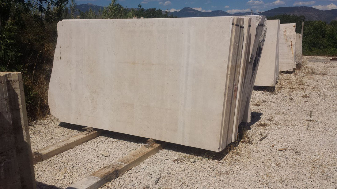 Italy Travertino Romano Honed Natural Beige Travertine Slabs