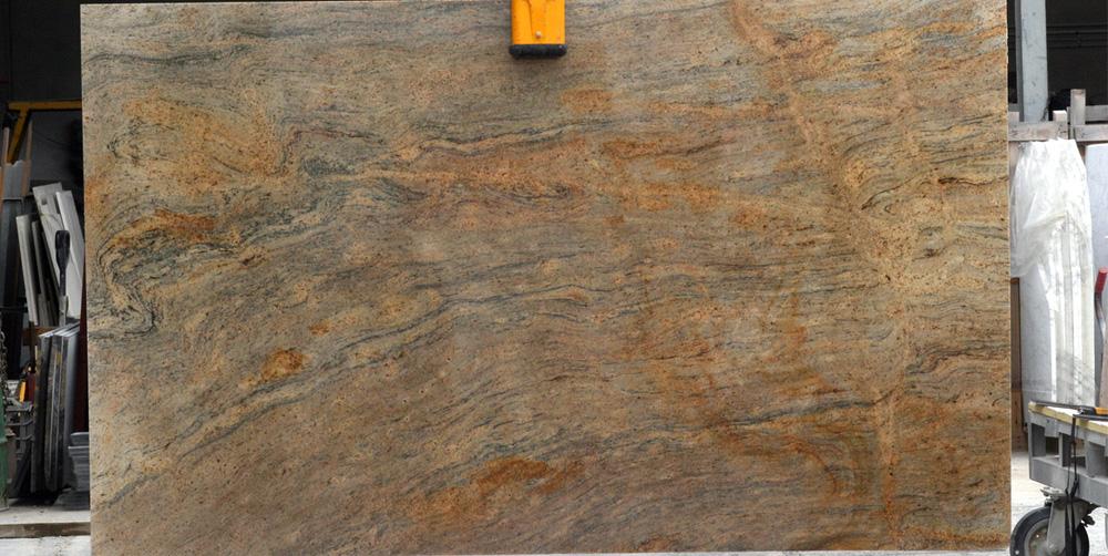 Ivory Gold Granite Slab India Competitive Granite Stone Slabs