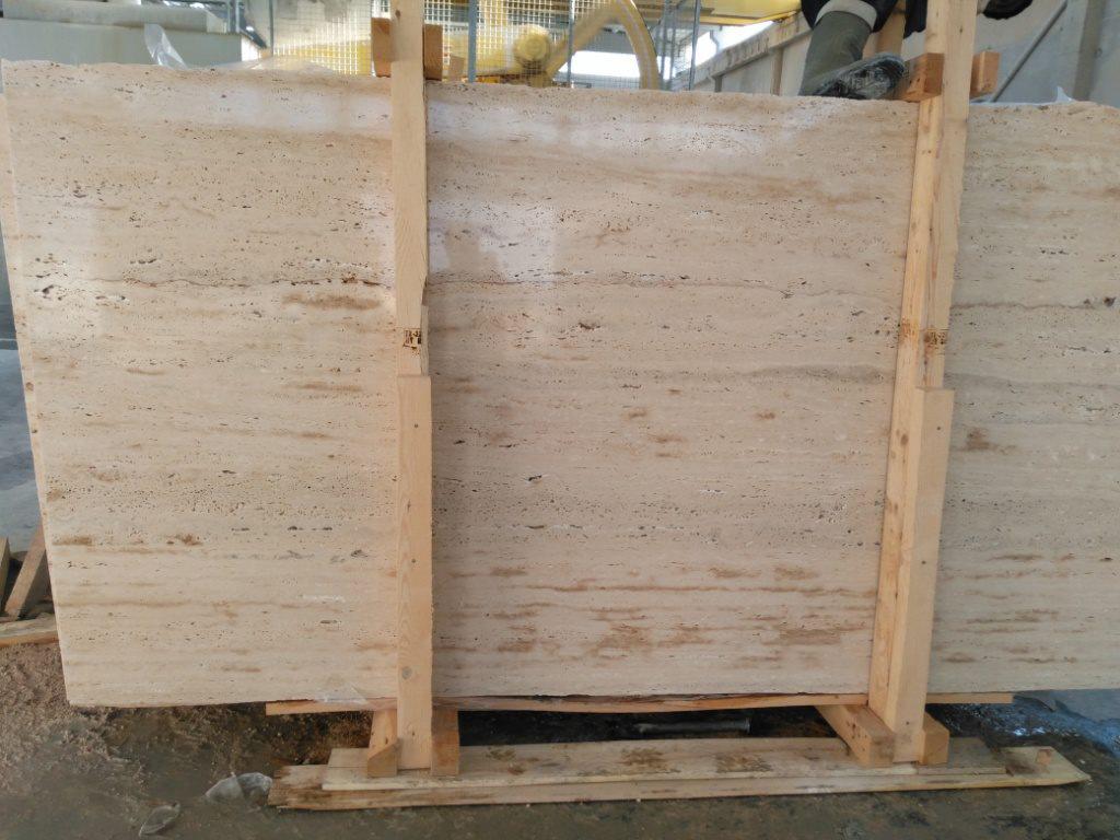 Ivory Travertine Slab Polished Beige Travertine Slabs