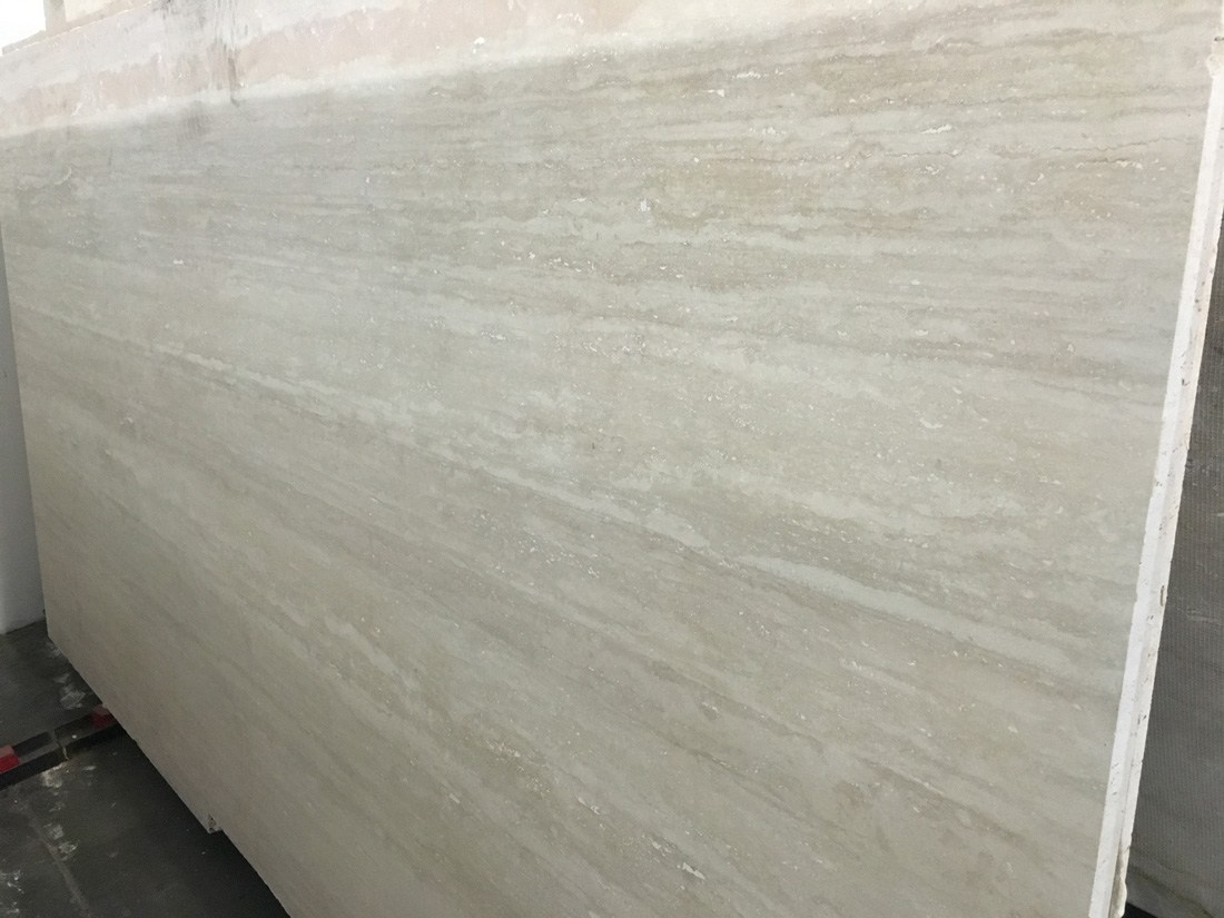 Ivory Veincut Honed Travertine Slabs