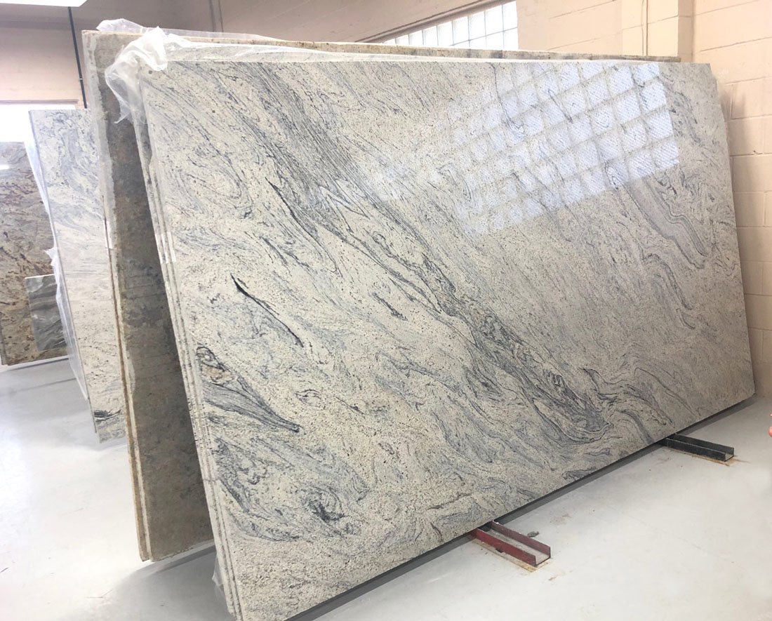 Ivory White Slab Polished Granite Stone Slabs for Countertops