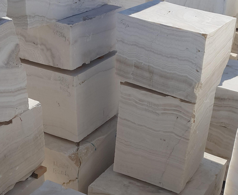 Ivory white onyx blocks