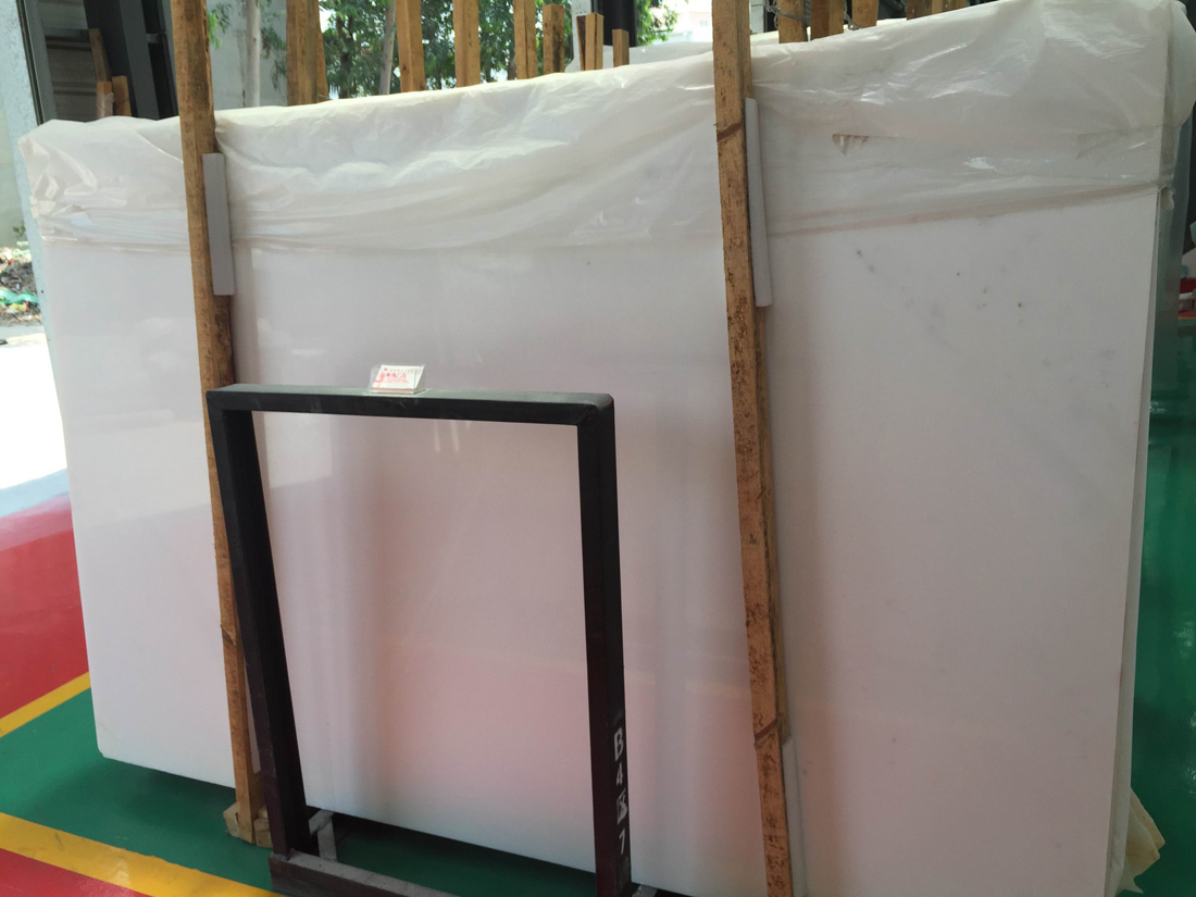 Jade Marble Slabs Polished White Chinese Marble Slabs