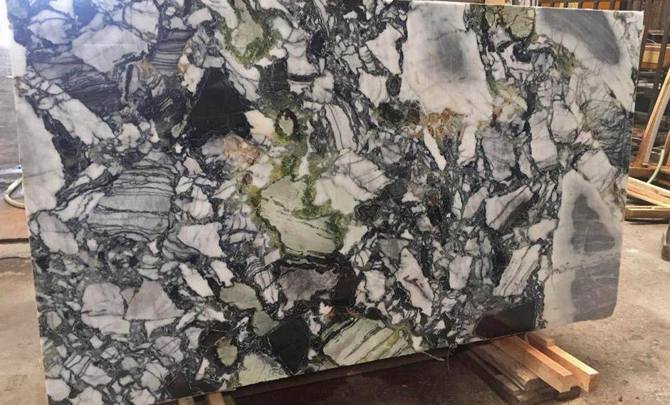 Jade Stone Marble Slabs White Beauty Green Marble Slabs