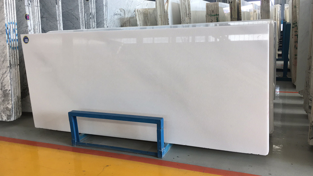 Jade White Marble Slabs Polished White Marble Slabs