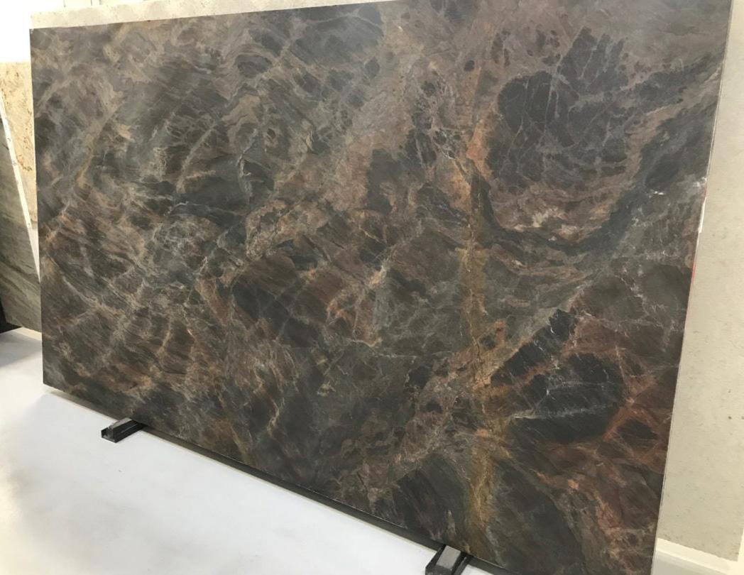 Jatoba Brown Suede Quartzite Slab for Kitchen Countertops