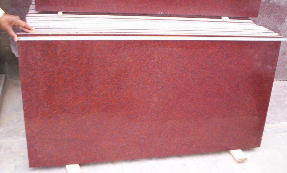 Jhansi Red Granite Polished Tiles Indian Granite Flooring Tiles