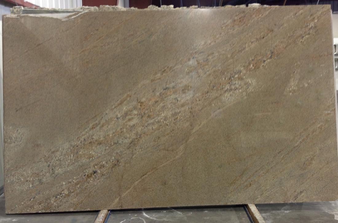 Juparana Arandis Polished Beige Granite Slabs for Kitchen Countertops