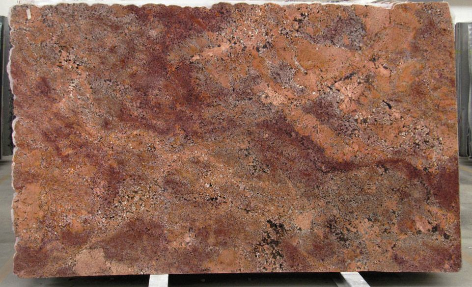 Juparana Bordeaux Granite Slabs Polished Red Granite Slabs