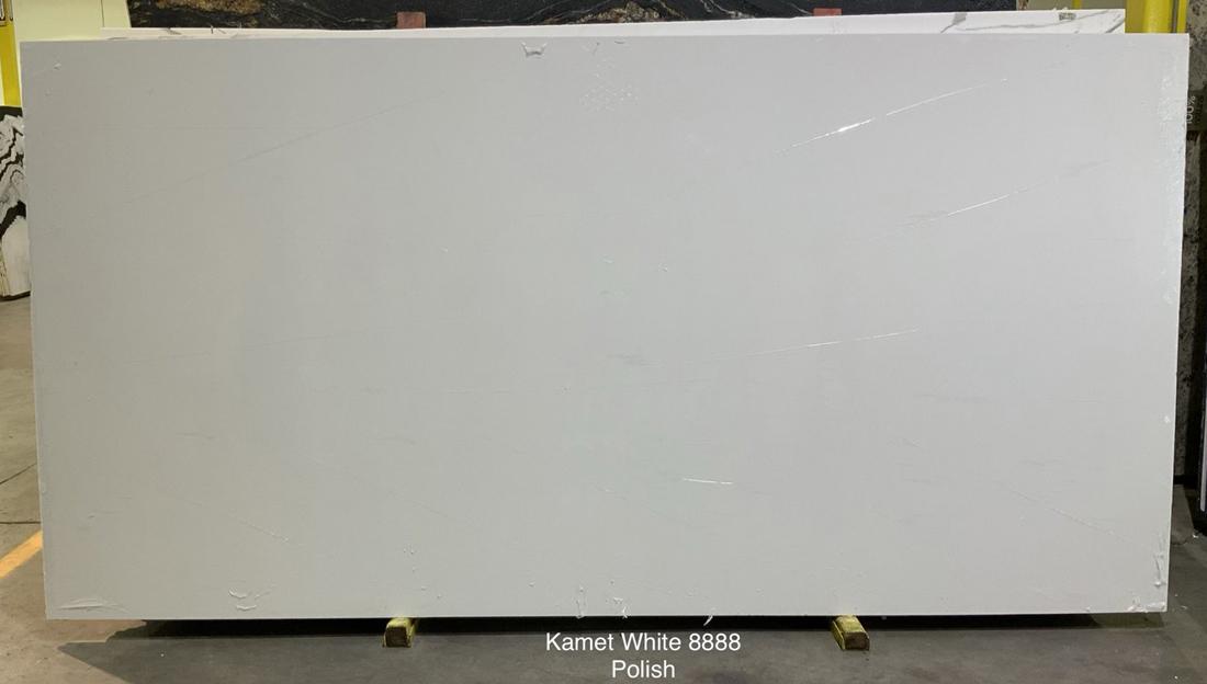 Kamet White Quartz Slabs Polished Artificial Stone Slabs