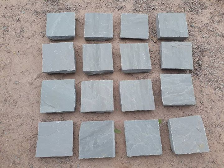 Kandla Grey Sandstone Cube Stone for Paving