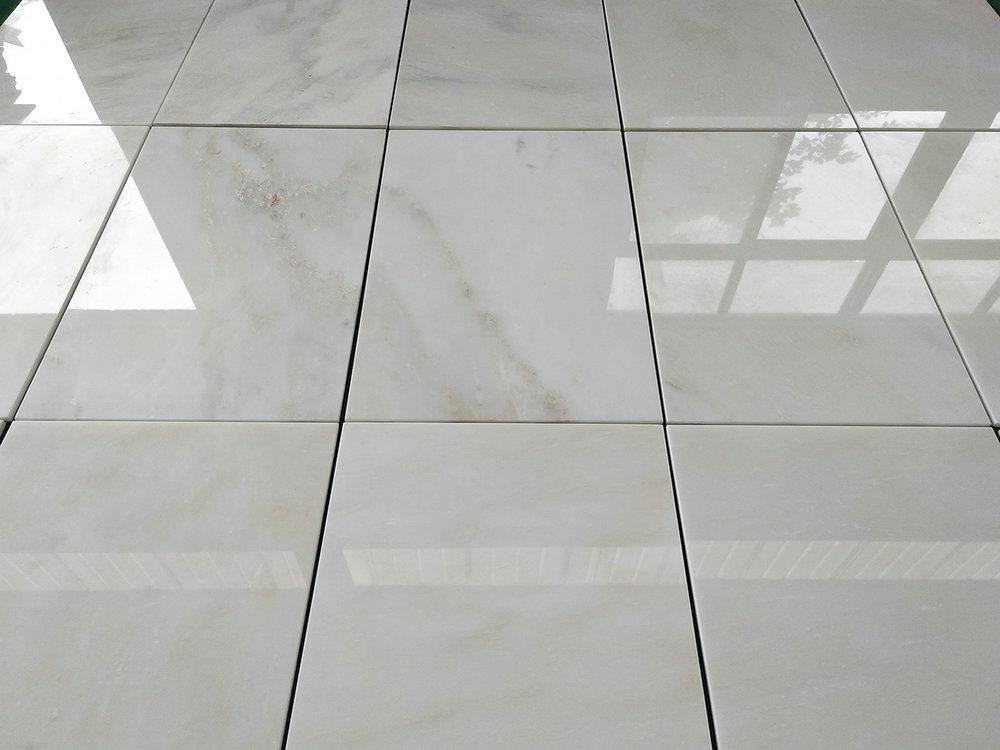 Kangba Jade White Marble Tiles White Polished Marble Tiles