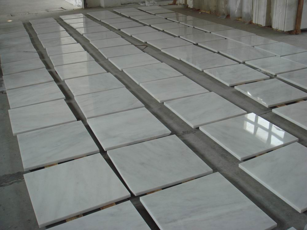 Kangba Jade White Polished Marble Tiles with Top Quality