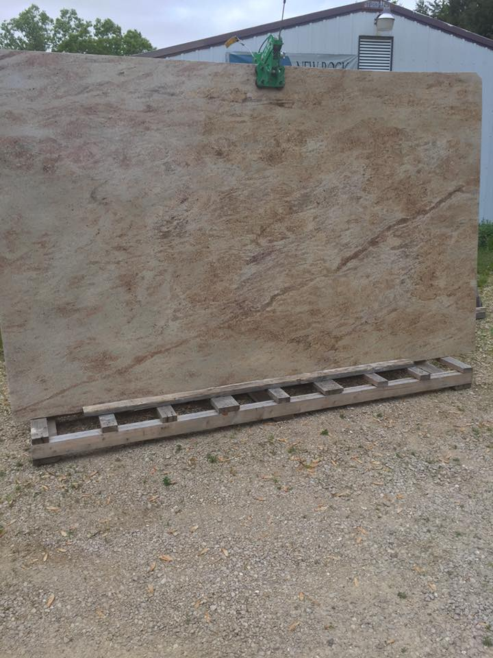 Kashmir Cream Granite Slabs Indian Beige Granite Slabs