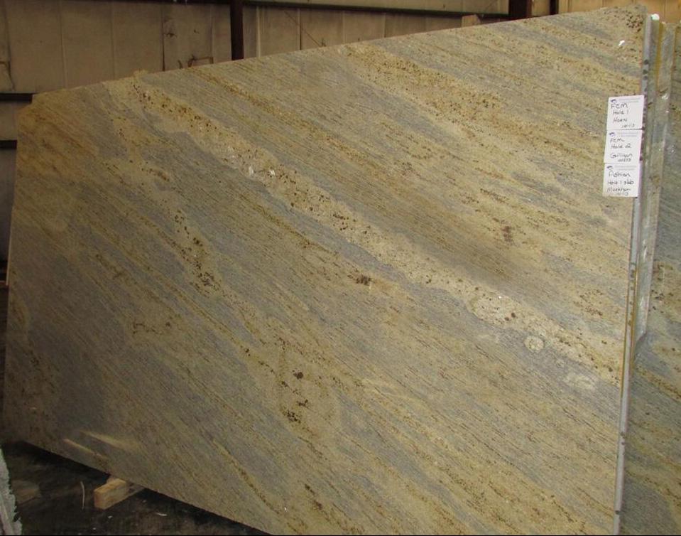 Kashmir Gold Granite Indian Polished Beige Granite Stone Slabs
