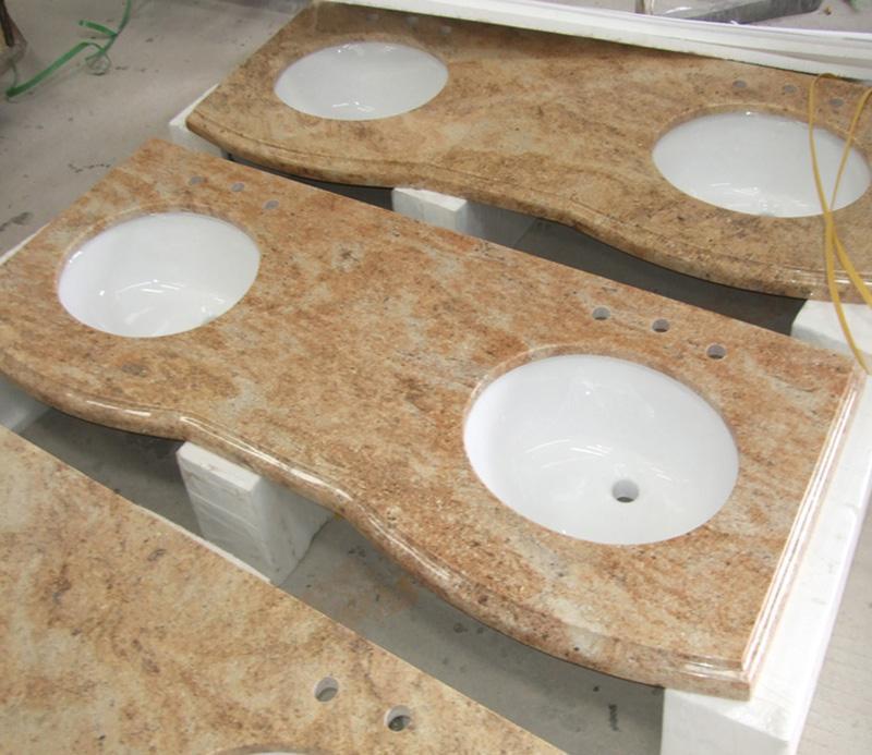 Kashmir Golden Granite Vanity Tops for Bathroom