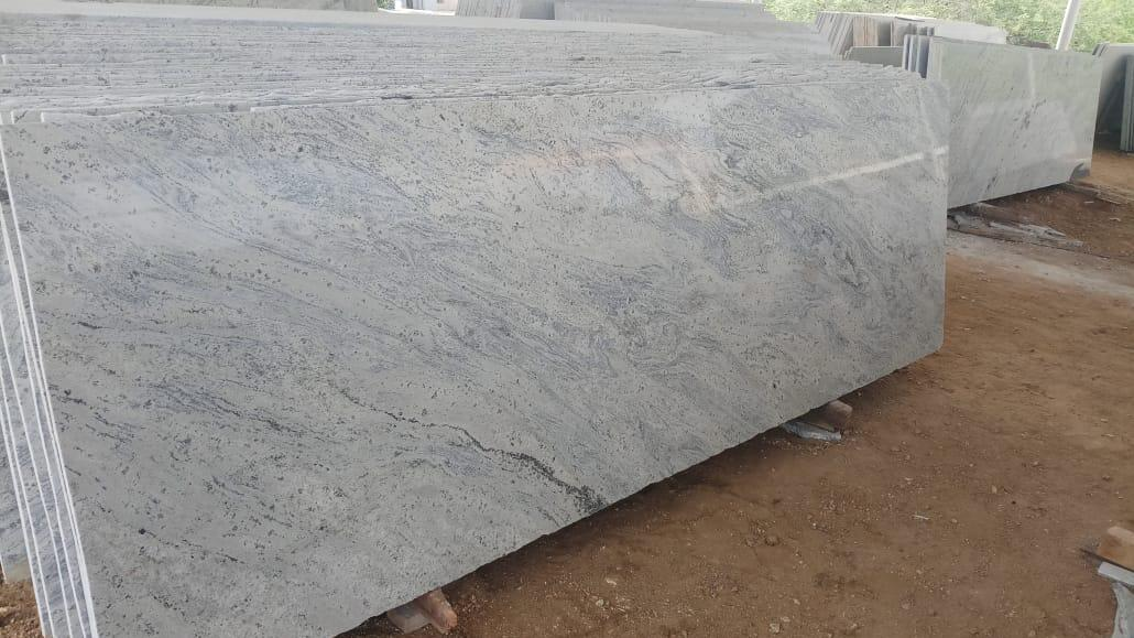 Kashmir White Granite Slabs Indian White Polished Granite Slabs