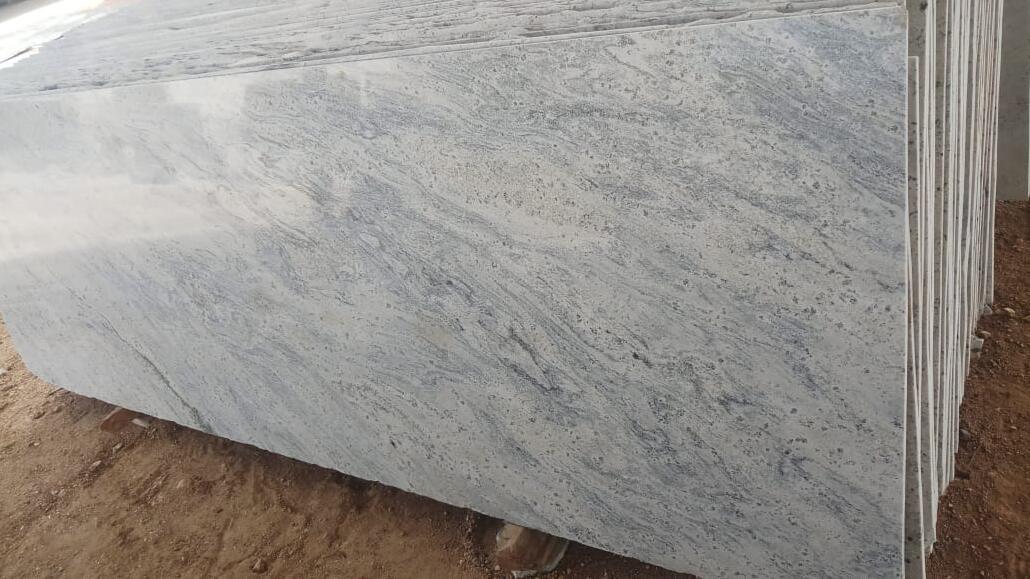 Kashmir White Indian Granite Slabs