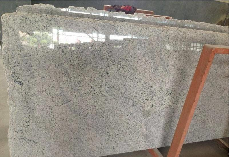 Kashmir White Polished Granite Slab