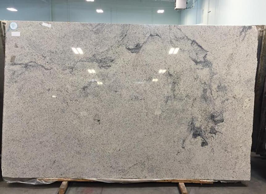 Kashmir White Polished Granite Slabs