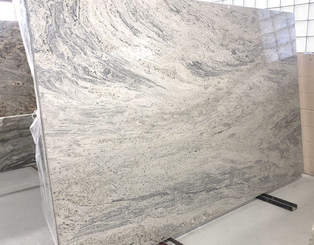 Kashmir White Slab Polished White Granite Stone Slabs for Countertops