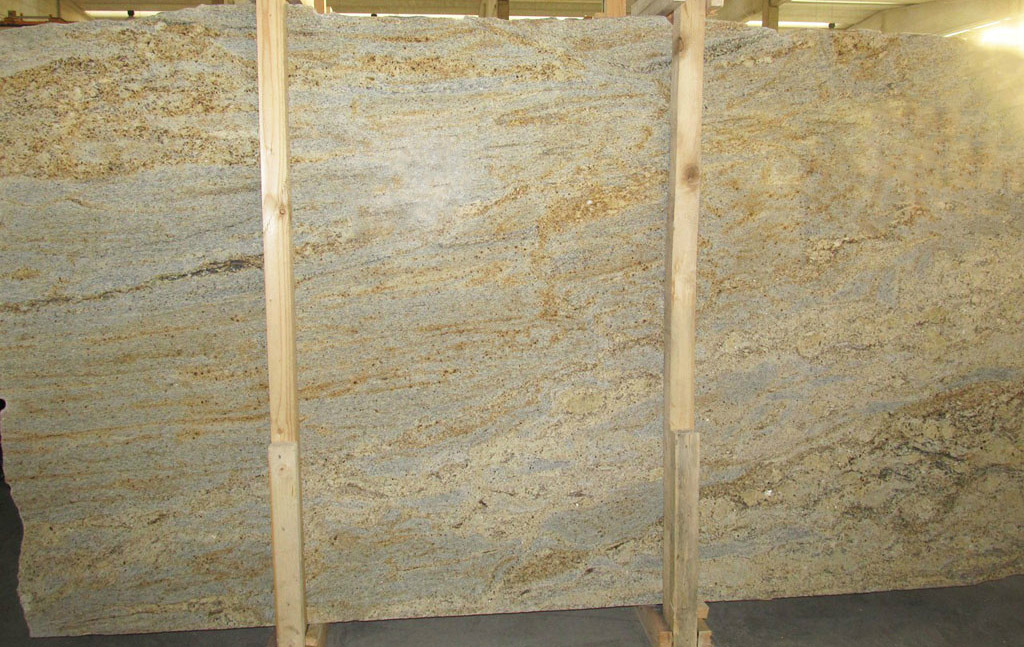 Kashmire Gold Granite Slabs Indian Granite Polished Slabs
