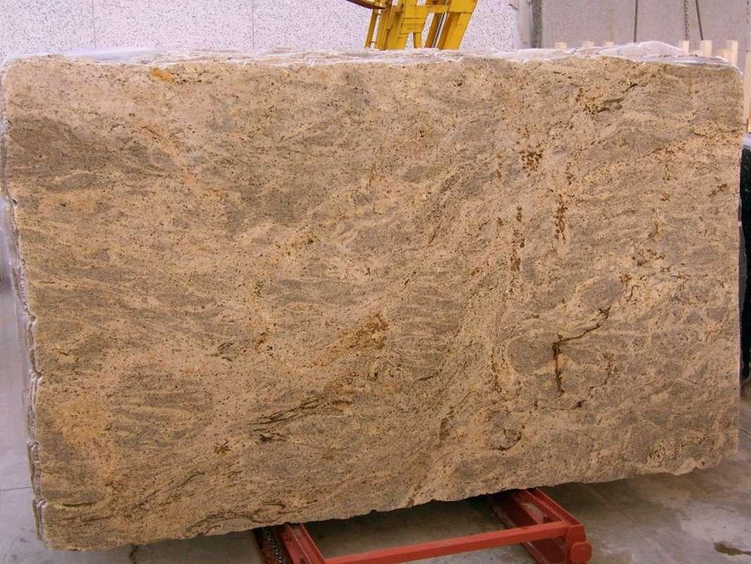 Kashmire Gold Granite Slabs Polished Yellow Granite Slabs