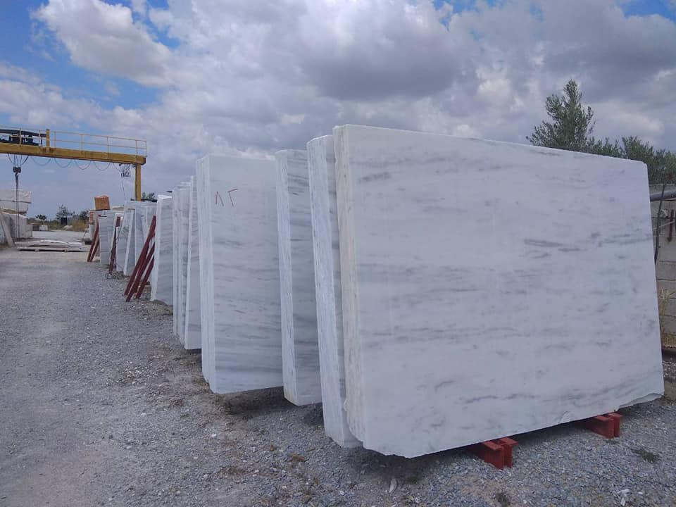 Kavalas White Marble Slabs from Greece