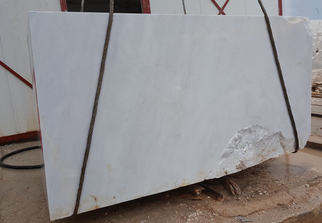 Kemalpasa White Marble Blocks Turkish Natural Stone Blocks