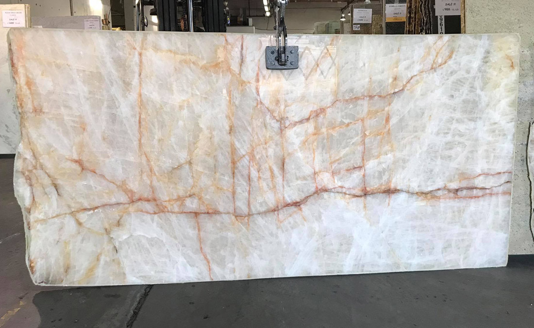 Krystallo Quartzite Slab Polished White Quartzite Slabs