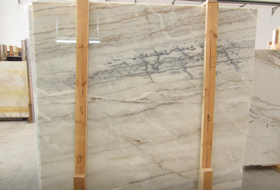 Lagoa White Polished Slabs Polished White Marble Slabs