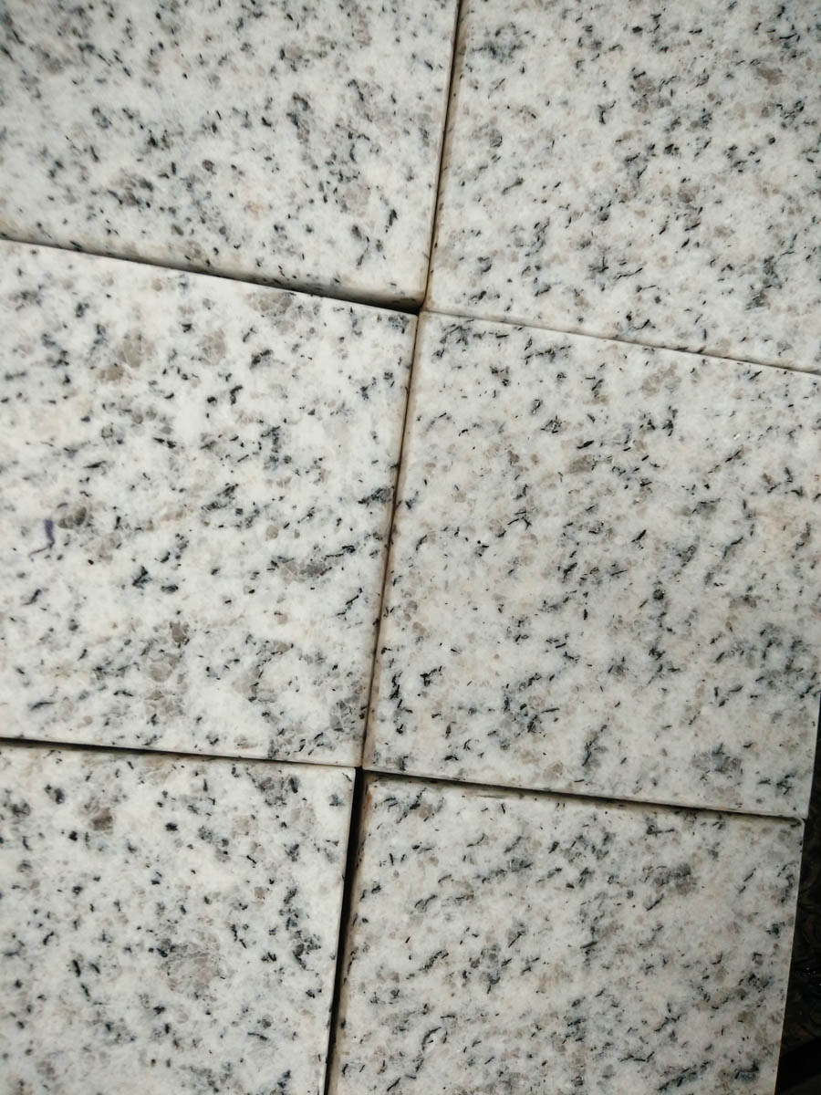 Laizhou White Grain Granite White Cube Stone