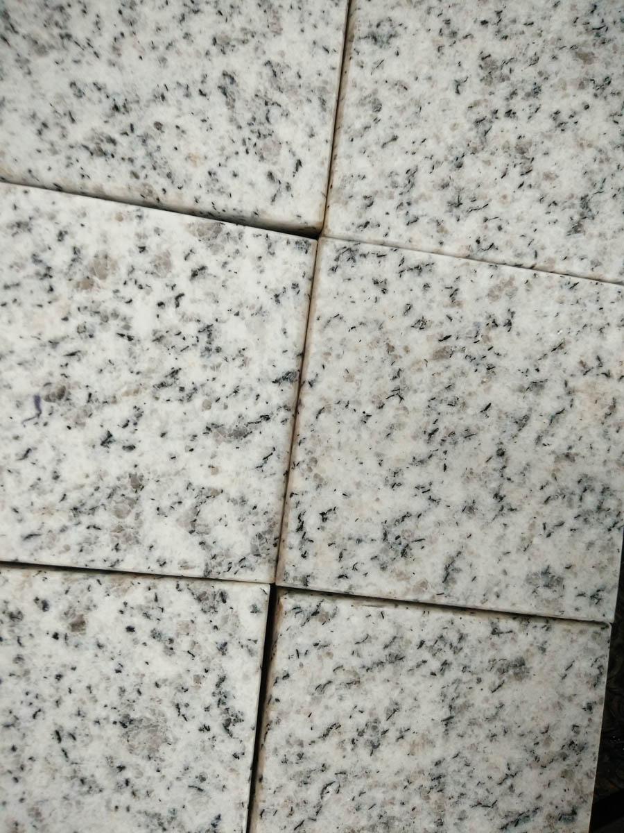 Laizhou White Grain Granite White Cube Stone