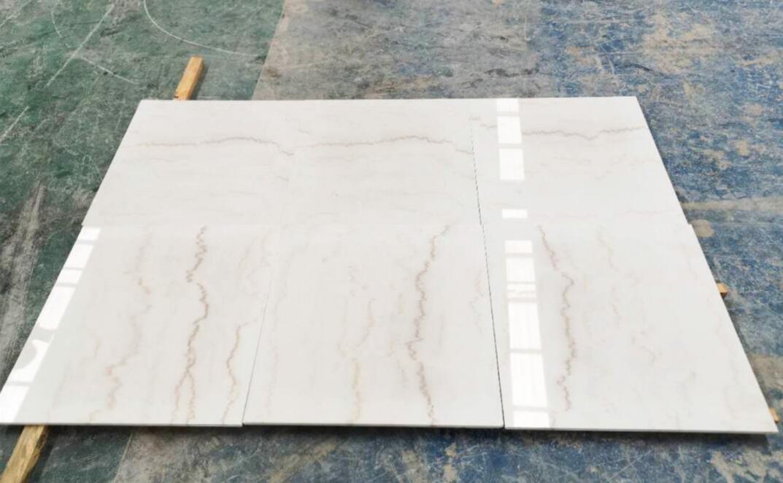 Landscape White Tiles Chinese White Polished Flooring Marble Tiles